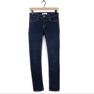 Joie Mid Rise Skinny Dark Blue Denim Jeans 25